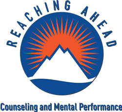 Reaching Ahead Counseling and Mental Performance Logo